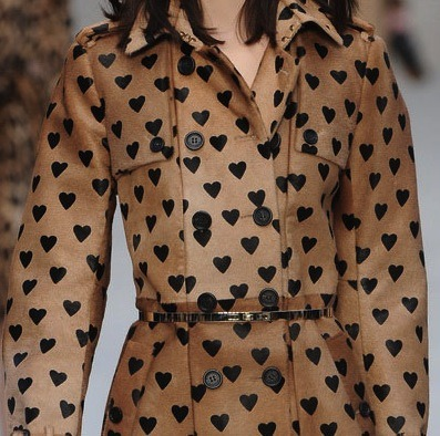 The heart prints @Burberry have us coming over all romantic. #LFW