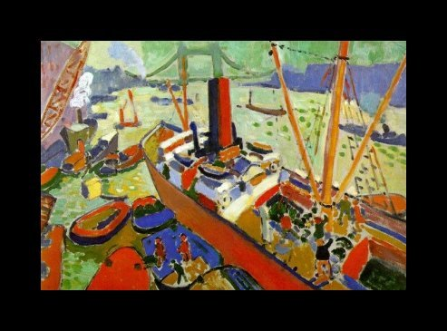 Pool of London, 1906; by Andre Derain