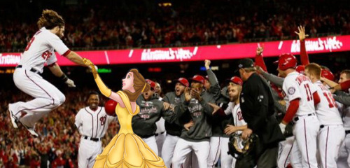 ambp77:  Jayson Werth mackin' on Belle from Beauty and the Beast.