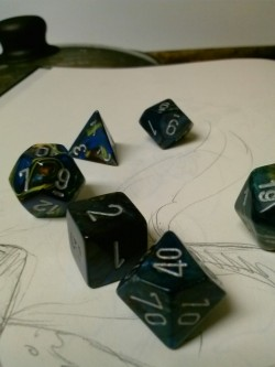 Got a killer set of seven dice from the comic book store today while one of the lovers were looking for some graphic novels to get into. I told myself I was gonna use these for Dungeons and Dragons, but we all know what I'm really gonna do… DIVINATION!!! I just gotta figure out how. If anyone uses dice at all, please message me or point me in the right direction! I'm super excited!  Also, as a side note, I'm gonna go take a nap for a little bit then I'm gonna get on these readings when I get back. Thank you for all the permissions everyone's given me on my last post! I really, really appreciate it! <3