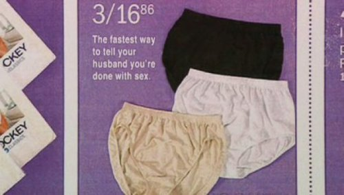 Underwear That'll Kickstart That Divorce Divorce comes in three great colors!