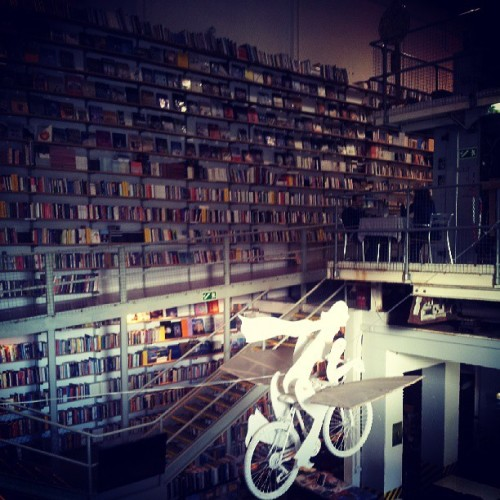 Flying bicycle. #bookstore #lisbon #portugal