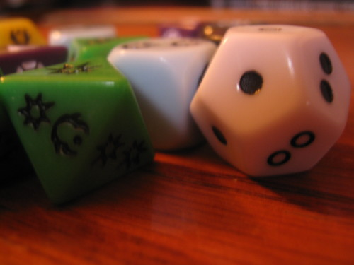 Star Wars dice.
