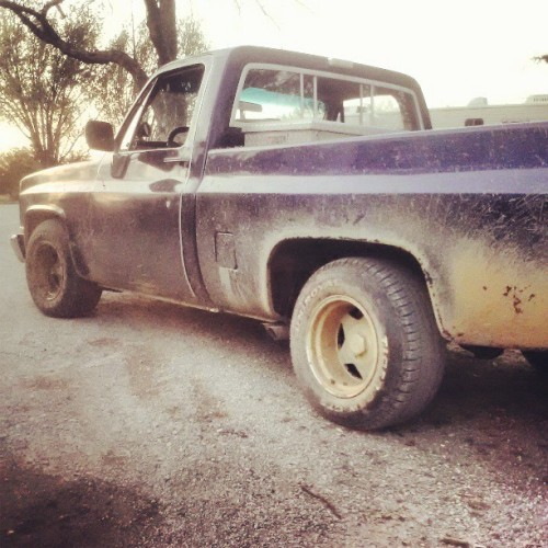 Builds Character. #Mud #chevrolet #chevy #350 #Gmc #lake #Purple #Spring