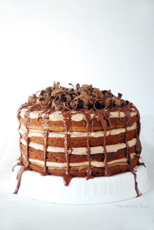 gastrogirl:  nutella chocolate layer cake.