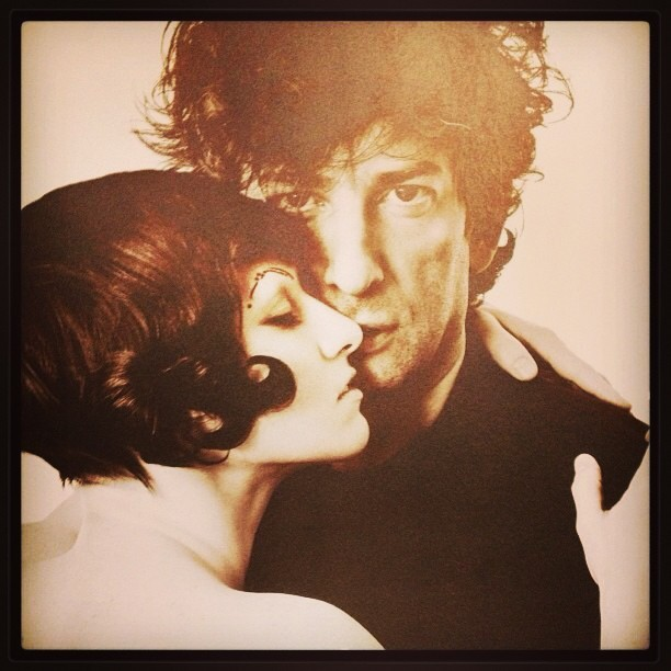 amandapalmer:  me and a very hot-looking @neilhimself, a few days after we got engaged, photographed in NYC for coilhouse magazine by allan amato.