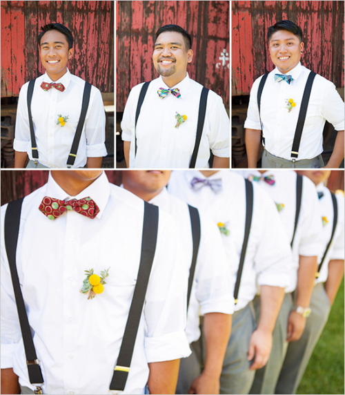 groomsmenswags:  Groomsmen Attire : Backyard wedding |via Wedding Chicks