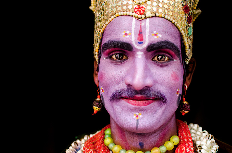 photographyweek:   Raam by Balaji Maheshwar This colourful portrait was taken in Mylapore, Chennai, India. The black background eliminates distractions and allows the bright and varied colours to take centre stage. In sharp focus, and making great use of light and shadow, Balaji has created an impressive portrait.  View more photography by Balaji on Flickr. Image copyright Balaji Maheshwar and used with permission.  __ See the world's most inspirational images every Thursday in Photography Week. Get five free issues today, risk-free, at http://bit.ly/RHzJmN