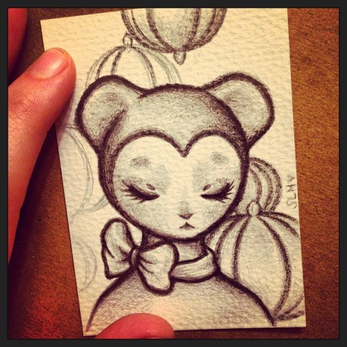 Sweet little bear is almost done <3 #art #cute #kawaii #drawing #illustration #manga #anime #bear #kuma