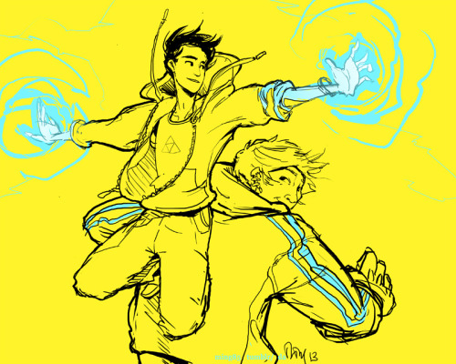 Time to draw flying teenage superheroes with glowy stuff and hoodies, t shirt idea from this lovely fanart.