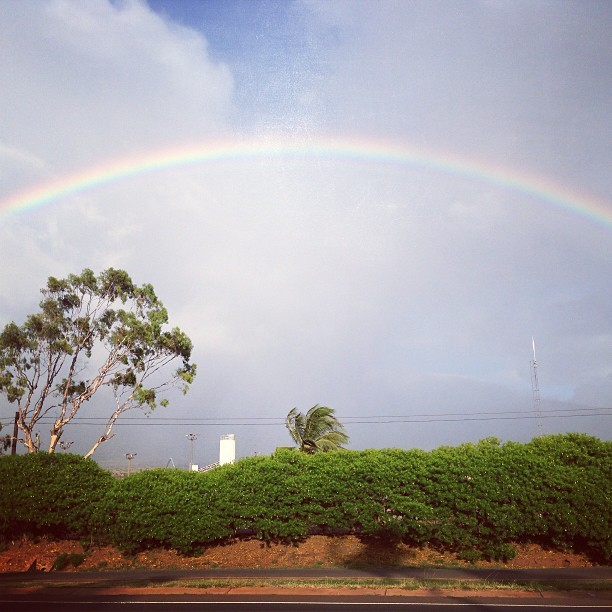 Awesome. #hawaii #rainbow #maui #upcountry (at Ka'anapali Beach)