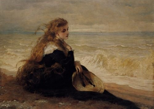 suicideblonde:  On the Seashore by George Elgar Hicks (1879)