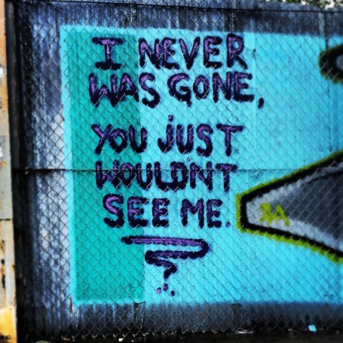 #Brooklyn #bushwick #fence #wall #street #message