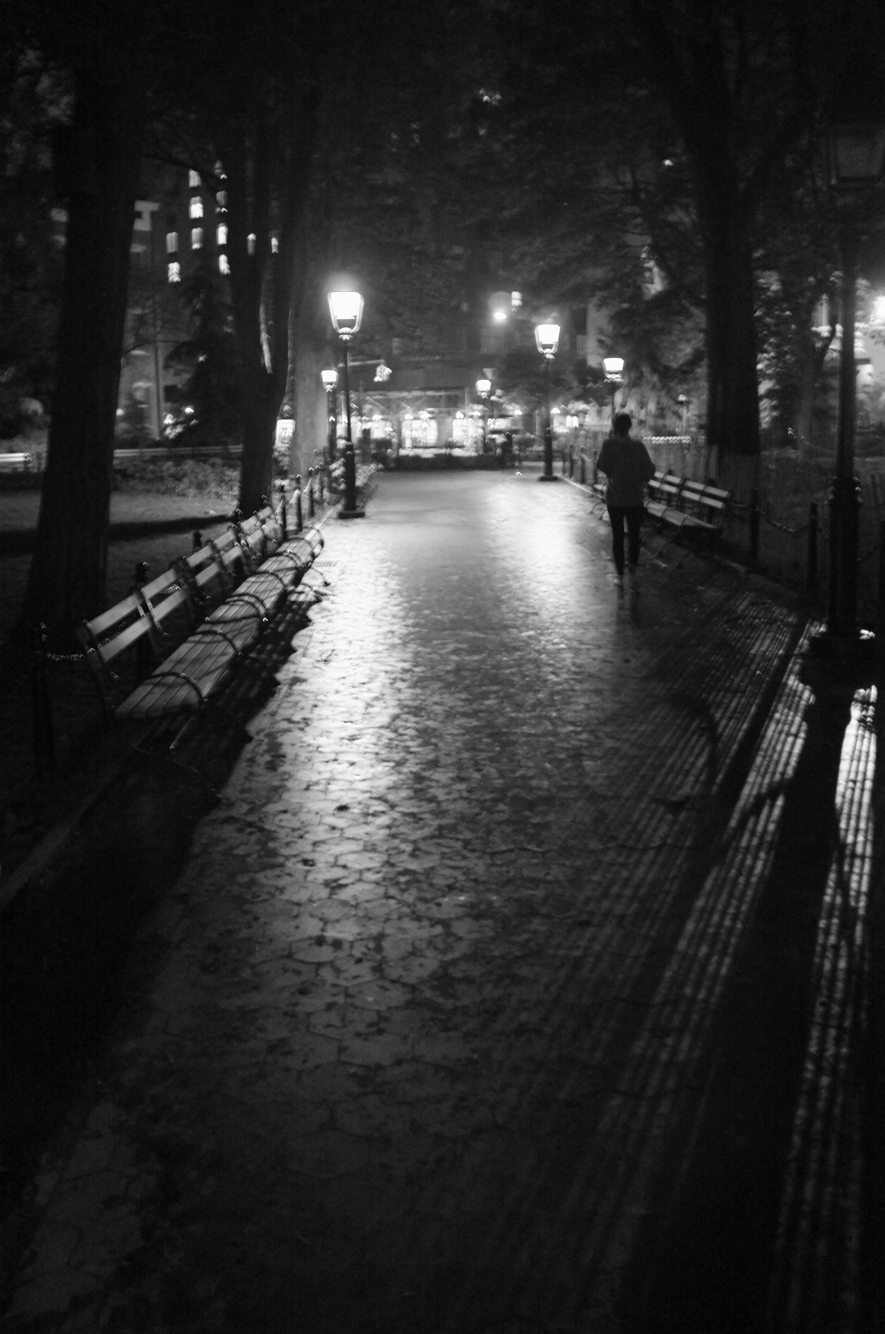 "bagnostian:  ""home to oblivion"" washington square park, nyc. (Fuji X100)"
