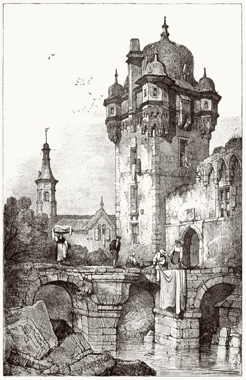 Andernach.  Samuel Prout, from Sketches by Samuel Prout, by Charles Holme, London, 1915.  (Source: archive.org)