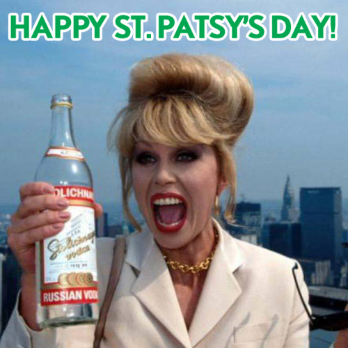 Bottoms up! Forget the green beer. It's time to celebrate St. Patsy's Day at 11:30a/10:30c!