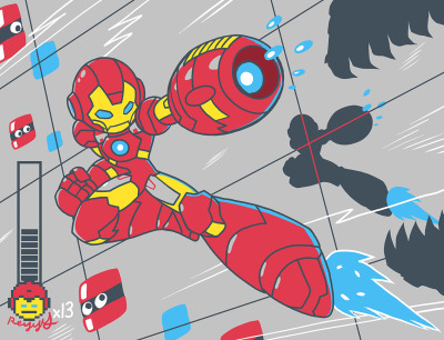 sunbakerey:  another COMIX / VG mashup — Iron Mega