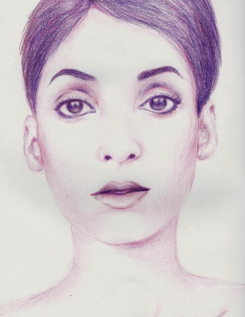 Winona Ryder —not.Colored pencils on paperApril 2013