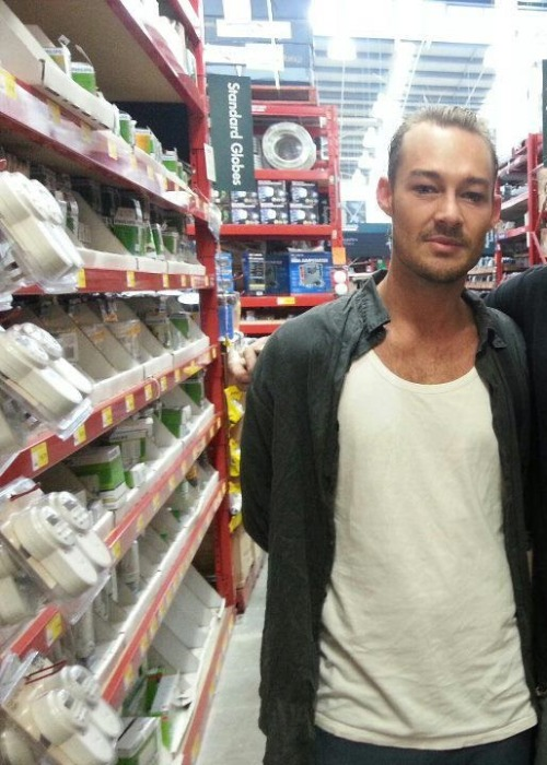 Daniel Johns in a DIY store…. hell hath frozen over.