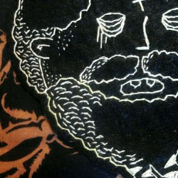 pinxbits:  Sneak peak at an embroidery piece for the FANG X GRIM exhibition #pinkyfang #grimoire