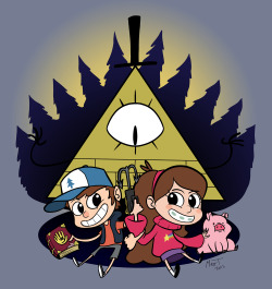 This was my design entry to the WeLoveFine Gravity Falls Design Contest. I didn't win anything so I guess it's okay to post the full design now.
