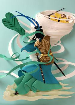 Illustration art sculpture design crafts fantasy graphic design paper art storytelling papercraft paper craft