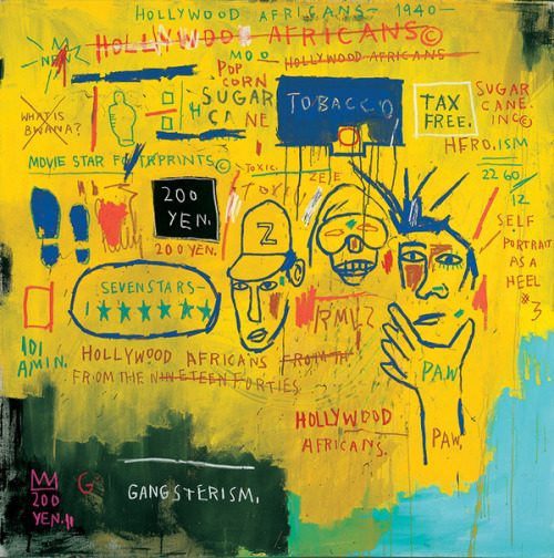 lucy-smile:  Basquiat's Hollywood Africans 1983 Image courtesy Whitney Museum webpage