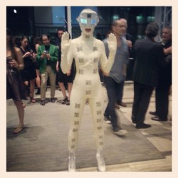 Latex girl at Architecture and Design Gala. #A+D