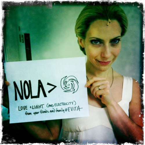 Never forget that the lovely Elena Roger supports NOLA.