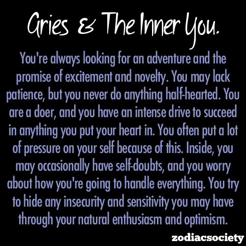 zodiacsociety:  Aries and the inner you.