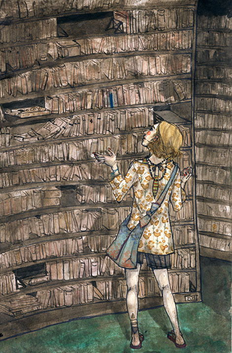 What book to read? / Qué libro elegir? (ilustración de Clara)