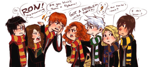 the-space:  Request: Big Four vs Golden Trio by ~ZLynn