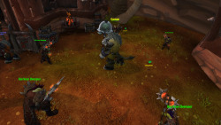 How many orcs does it take to deal with a drunken Tauren?  Five, apparently.