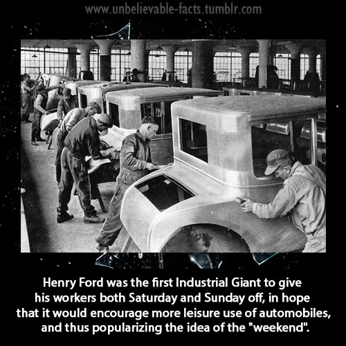 "Henry Ford Made it clear when he went into the automobile business that his business and his goal is to make cars for the working consumer. ""I Want My Workers to be able to buy my cars"". I like that theroy. now its just a loss cause in this generation.  Dear Henry Ford…. Thanks for being such a bad ass."