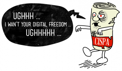 #CISPA, the anti-internet privacy bill, is back. This bill just won't die, will it? Starting today, Reddit, Craigslist, and more than 30k other websites are displaying ads collecting signatures from those who oppose CISPA to lobby DC against the bill. This comes just a month after 300,000 petition signatures against CISPA were sent to Congress.