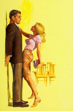 Prize Pupil — unsigned pulp paperback cover art, 1966 Read more…