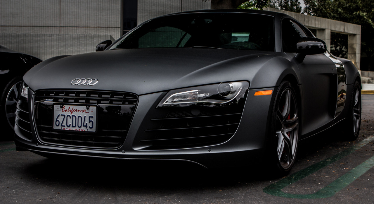 Benscanvas submitted: German Precision Matte Grey Audi R8 (V8) Credit: http://myinfinitefocus.tumblr.com/image/48026342081 Submission Sunday