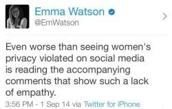 theresearcher:  Emma Watson calls it.