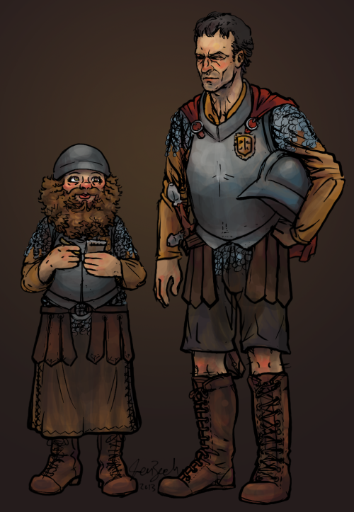 fyterrypratchett:  Commander Vimes and Sergeant Littlebottom by ~coloristjen