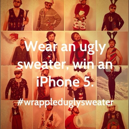 Follow us @wrappled and use hashtag #wrappleduglysweater to enter to win a new iPhone 5 and more. Details Facebook.com/wrappled 🎄🎁 #giveaway #contest #photocontest #igcontest #igdaily #ig #webstagram #wiwt #potd #picoftheday #statigram #uglysweater #uglysweaterswag #uglysweaters #uglyholidaysweater #sweatersweather #iphone5 #iphone #iphoneonly #win #instawin #ftw #holidays #holidayswag #cheer #uglysweaterparty #iglysweaterrun
