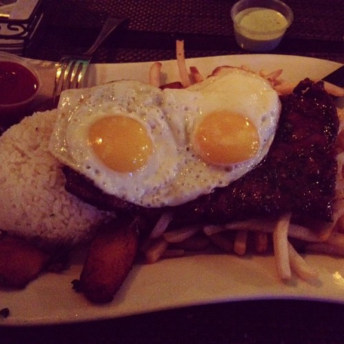 The Peruvian Funk!!! Churrasco a lo pobre 😋😍