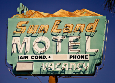 Sunland Motel by TooMuchFire on Flickr.