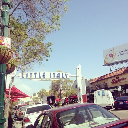 Oh hey new neighborhood.  (at Little Italy Sign)