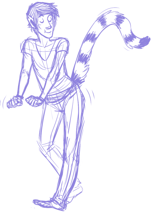blackpaws:  tonight was rough so I drew a dorky dancing lemur ok  Belongs on this blog vuv