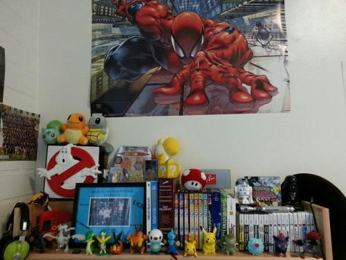 So I think I might need more space on my desk…oh and Hello Spider-man poster!