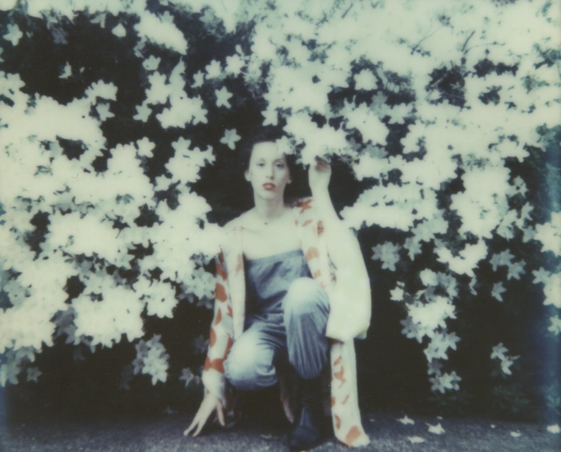 Surrounded By Bloomies, Self Portrait The IMPOSSIBLE Project, CP PZ680 Film © Anna Marcell