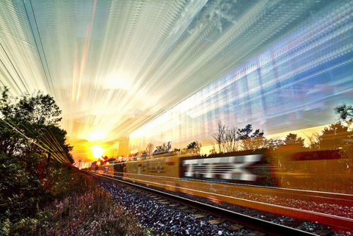 Beautifull sky+nature+train ✌
