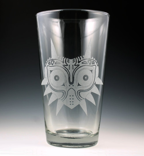 The Legend of Zelda: Majora's Mask Etched Pint Glassby EmporiumOfFluff - $12.00