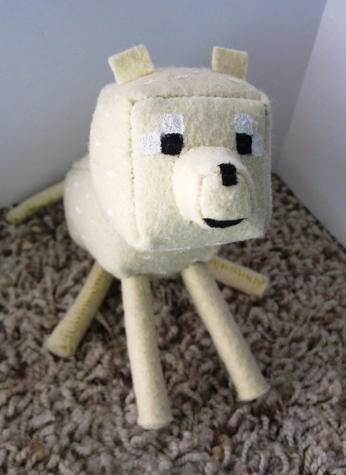 I made a Minecraft golden retriever by special request! :D