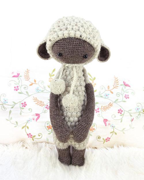 crochet crocheted crocheting crochetpattern diy doll häkelanleitung handmade lala laly laly lala lalylala lalylaland lamb LUPO patron pattern sheep